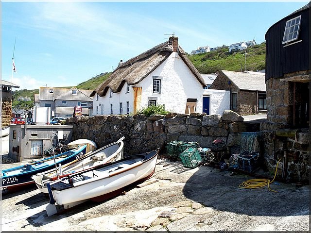 Cornish  boats and Cornish Cottages