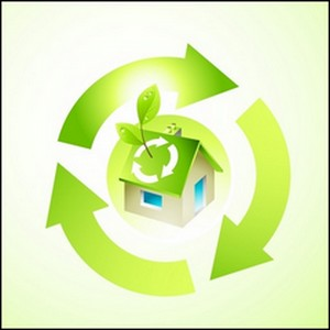 go green logo for green living