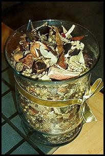 a jar of potpourri
