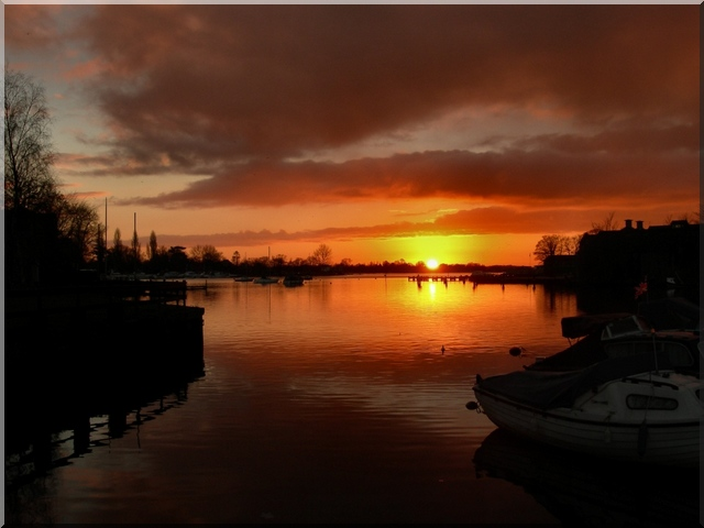 Sunset over Oulton Broads, Suffolk