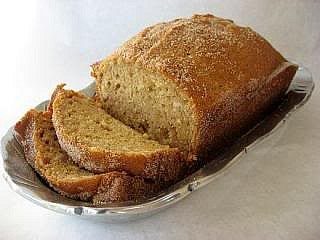 Sliced Amish friendship bread.