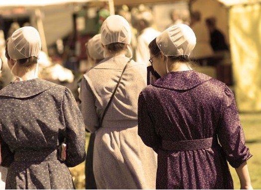 Amish women at an Amish gathering