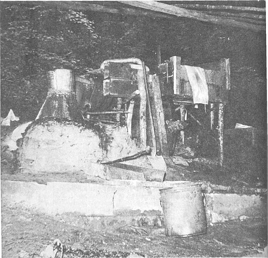 Blockade moonshine still system.