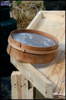 a chessel - a wooden mould for cheese