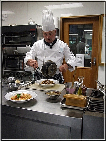 Chef at  a UK cookery school