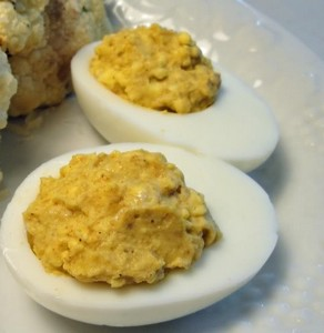 curried eggs ready for the party
