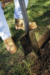 A garden spade used for cutting turf5