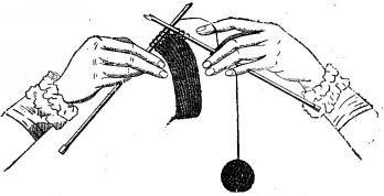 How to knit using the German method