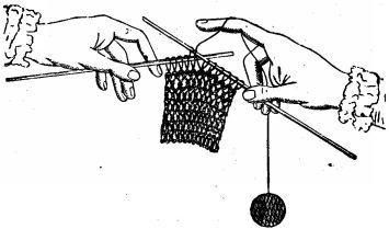 How to knit purling