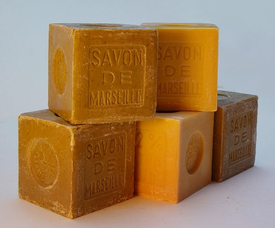 a display of handmade soap