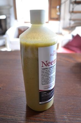 Cold Pressed Neem Oil that has Solidified