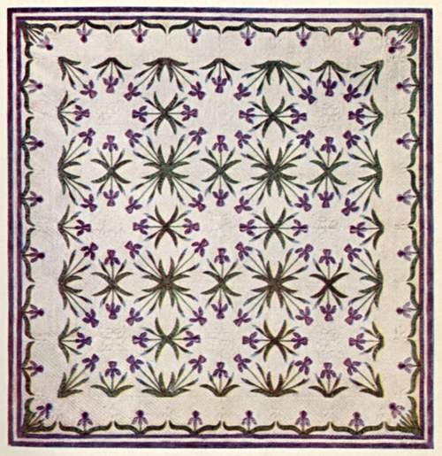 iris flower quilting pattern