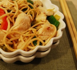 Leftover Chinese turkey and noodle dish.1