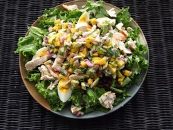 Leftover turkey and mango salad