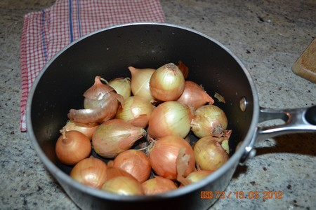 pickling onions in a pot