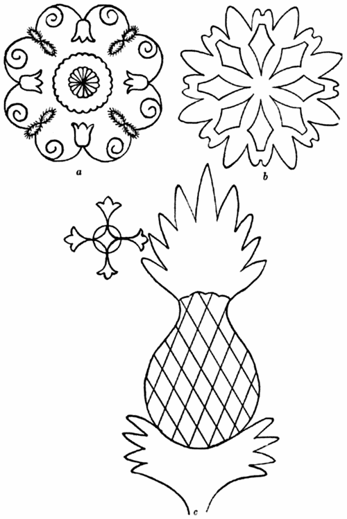 pineapple quilting pattern design