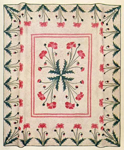 poppy quilting design