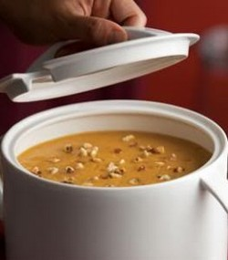 Pumpkin and walnut soup.
