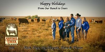 Christmas Card taken in one of our flinthills pastures