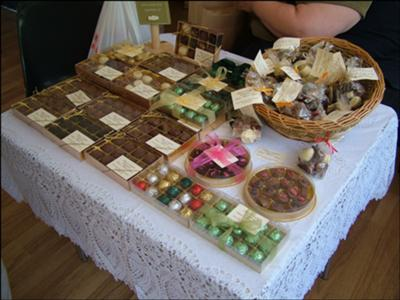 Homemade Chocolates at Stansted Farmer's Market
