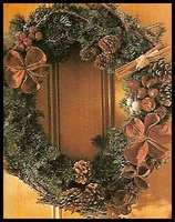 Rustic material for making a Christmas Wreath