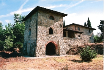 clearing of land around the Tuscan Farmhouse
