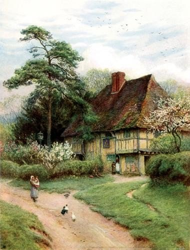 an old fashioned country cottage in England