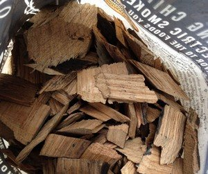 wood chips used for smoking meat